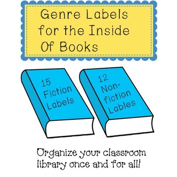 Genre Labels for the Inside of Books