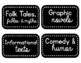 Genre Library Labels (Black & White)