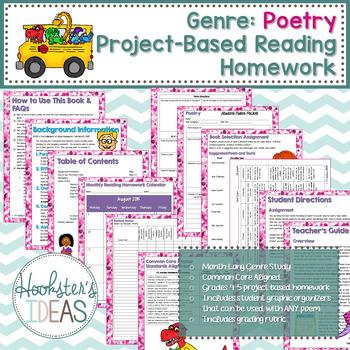 Genre: Poetry Project-Based Reading Homework