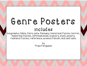 Genre Posters - Rose and Gray Chevron