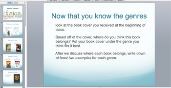Genre PowerPoint and Matching Game