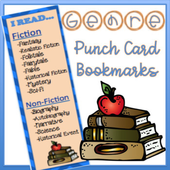 Genre Punch Card Bookmarks
