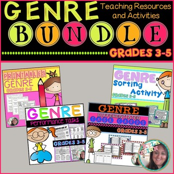 Genre BUNDLE: Printables,Performance Tasks,Sort Activity,D