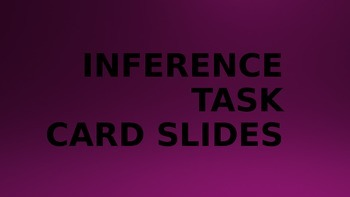 Inference Task Card Powerpoint for Daily 5 Stations and DI