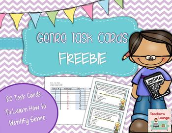 Genre Task Cards: 20 Multiple Choice Cards
