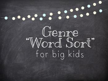 Genre Word/Concept Sort