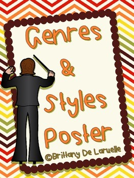 Genre/Styles of Music Posters - Color, black & white, PLUS