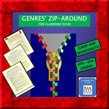Genres Zip-Around Activity and Worksheet