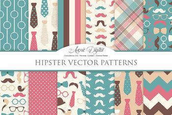 Gentleman - Hipster Digital Paper patterns Father's day mu