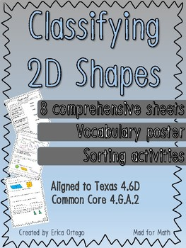 NEW Geo Classify 2D Shapes Based on Lines & Angles TEK 4.6