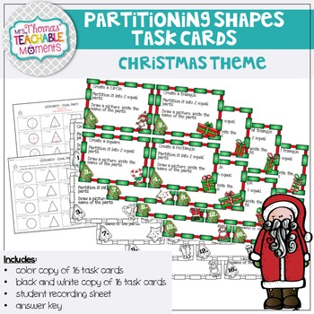 Geoboard Partitioning and Naming Fractions (Christmas Theme)