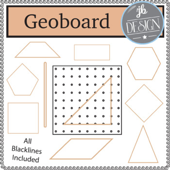 Geoboard and Shapes (JB Design Clip Art for Personal or Co