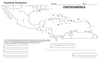 Geografía - Centroamérica (Prueba / mapa)