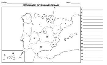 Geografía - España (Prueba / mapa)