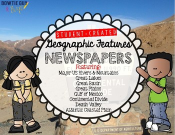 Geographic Features Student Created Newspapers Bundle