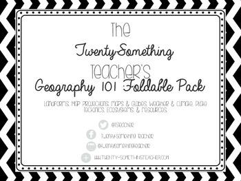 Basics of Geography Foldable Pack: Latitude & Longitude, L
