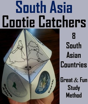Geography (k-12) South Asia Map Skills Activity  (Scoot Un