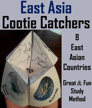 Geography (k-12) East Asia Map Skills Activity  (Scoot Uni