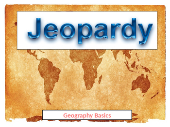 Geography Basics Double Jeopardy