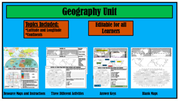 Geography Bundle: World Atlas and Map Skill Activities
