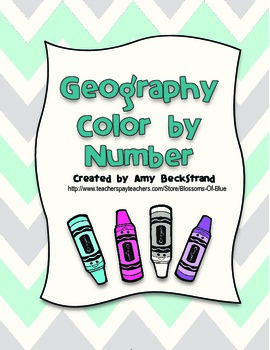 Geography Continents Color By Number