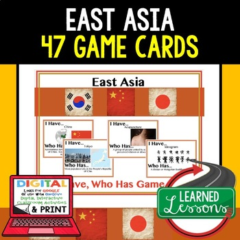 Geography East Asia 47 I Have Who Has Game Cards
