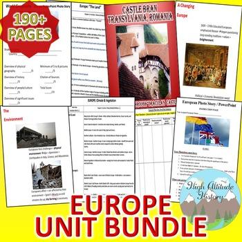 Europe Unit (Geography) / Europe *Unit Bundle*