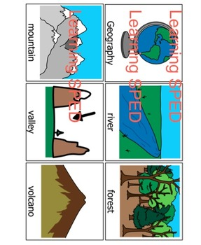 Geography Flash Cards Geography learning teaching landforms