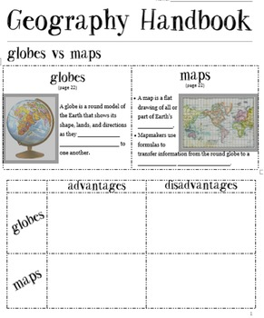 Geography Handbook: Interactive Notebook & Powerpoint