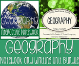 Geography Interactive Notebook & Writing Unit Bundle! Writ