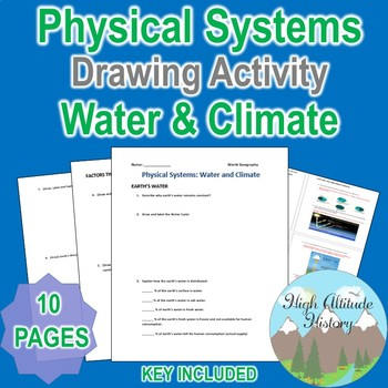 Physical Systems Water and Climate Worksheet Drawing Activ
