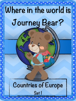 Geography: Journey Bear Visits Countries of Europe Set 1