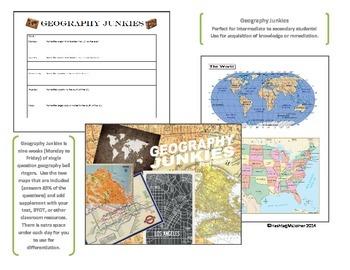 Geography Junkies Nine Week Bell Ringer--United States