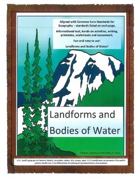 Geography - Landforms and Bodies of Water - Aligned with C