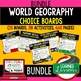 Geography Latin America Choice Board Activities with Google Link