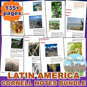 Latin America and Sustainability Cornell Notes *Bundle* (G