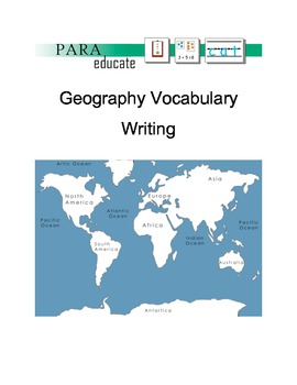 Geography Location Vocabulary Writing