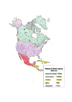 Geography:  Make-Your-Own REGION maps of North and South America