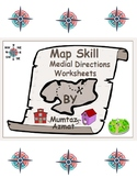 Geography: Medial Directions Worksheets: