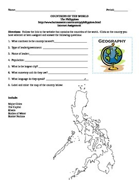 Geography/Map The Philippines Internet Assignment Middle o