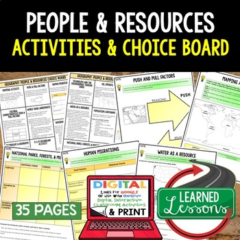 Geography People & Resources (Population, Culture, Land Us