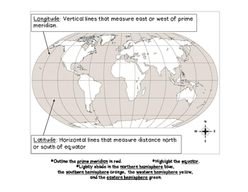Geography Practice and Vocabulary