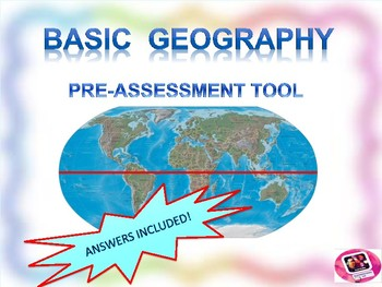 Geography pre-assessment: Interactive,Visual Pre-Test (Pow