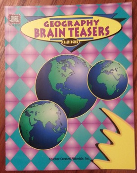 Geography Problem-Solving Brain Teasers Softcover Book