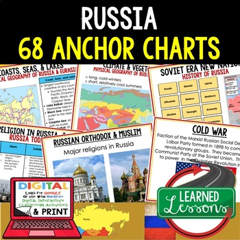 Geography Russia 68 Anchor Charts (Great as Bellringers, W