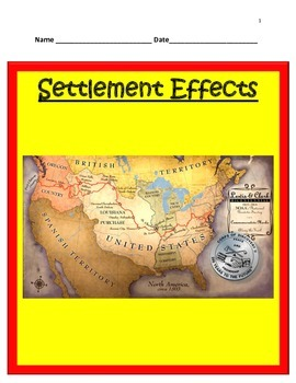 Geography- Settlement Effects PowerPoint and Interactive N