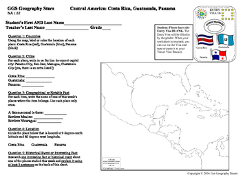 Geography Stars - Learn about Countries of Central America!
