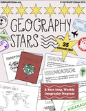Geography Stars Weekly Year-Long Program & Passport Bookle
