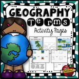 Geography Terms Activities
