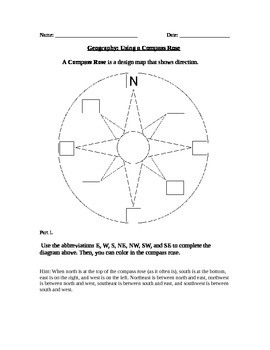 Geography: Using a Compass Rose